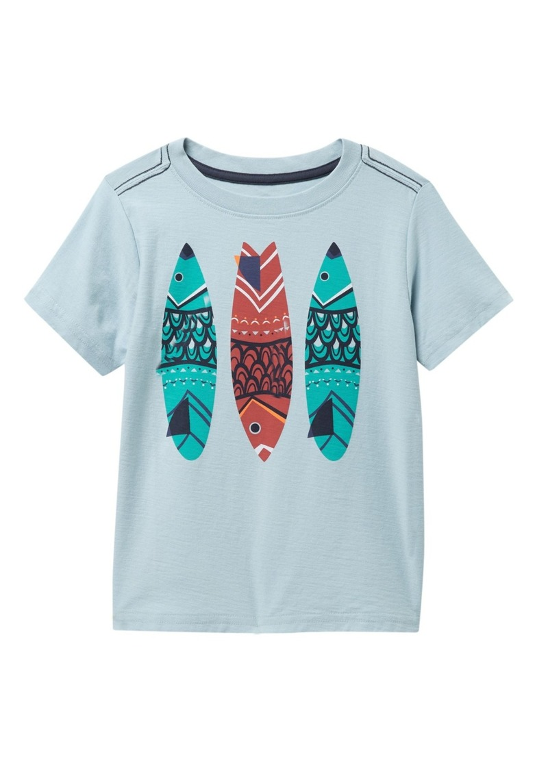 Tea Collection Fish Stick Graphic T-Shirt (Toddler & Little Boys)