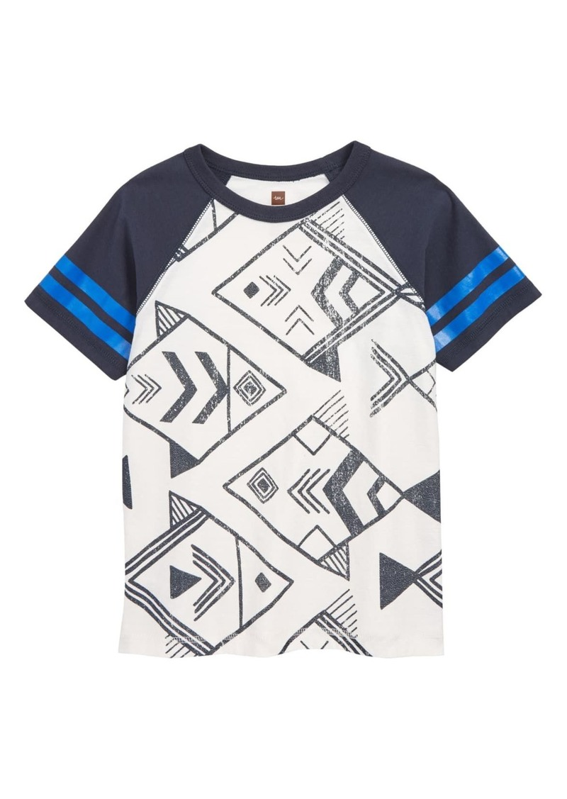 Tea Collection Geo Fish Graphic Raglan T-Shirt (Toddler & Little Boys)