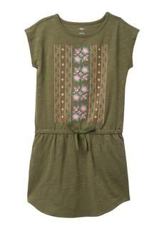 Tea Collection Geo Pattern Tie-Waist Dress (Big Girls)