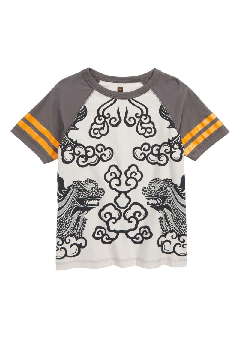 Tea Collection Lion Graphic Raglan T-Shirt (Toddler Boys, Little Boys & Big Boys)