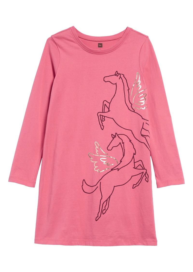 Tea Collection Metallic Wind Horse Dress (Toddler Girls, Little Girls & Big Girls)