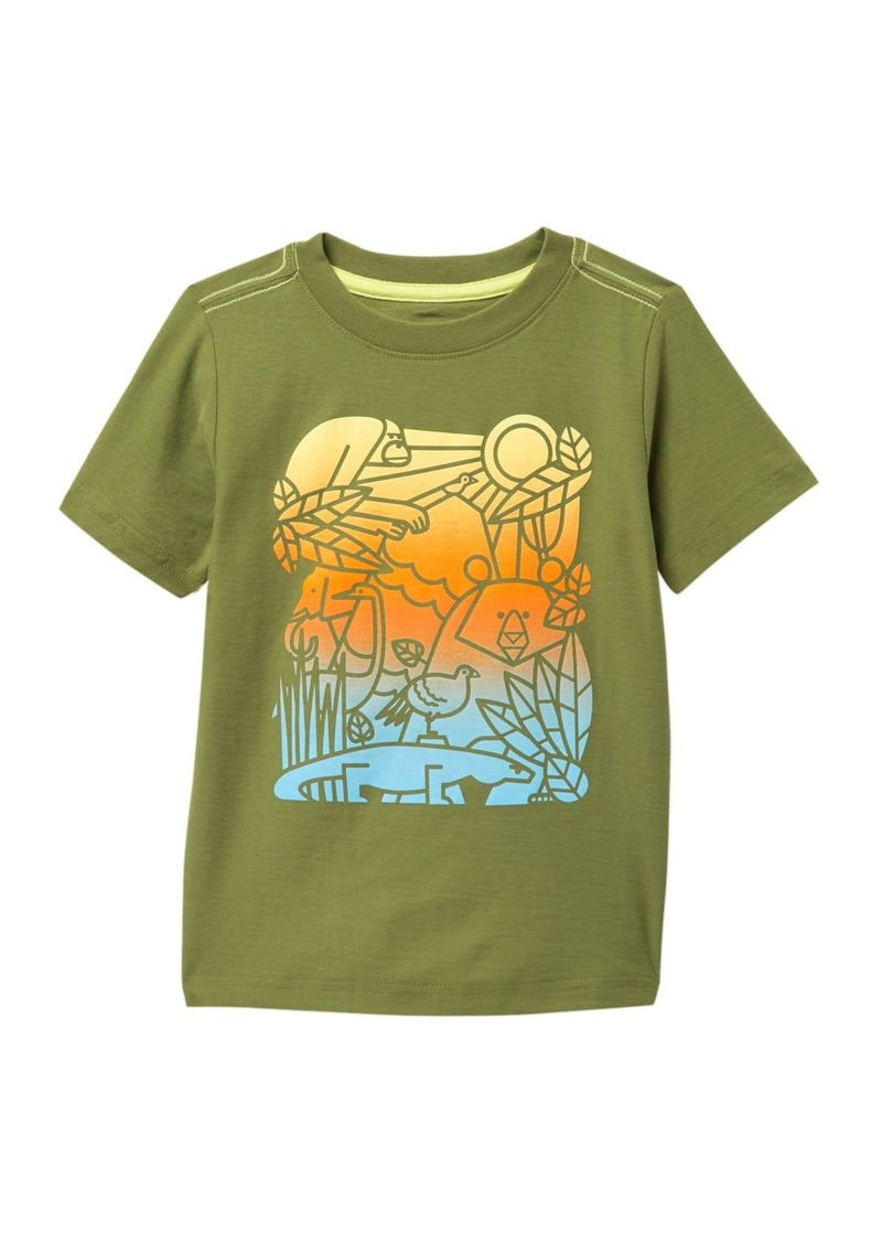 Tea Collection Ombre Animals Graphic T-Shirt (Toddler & Little Boys)