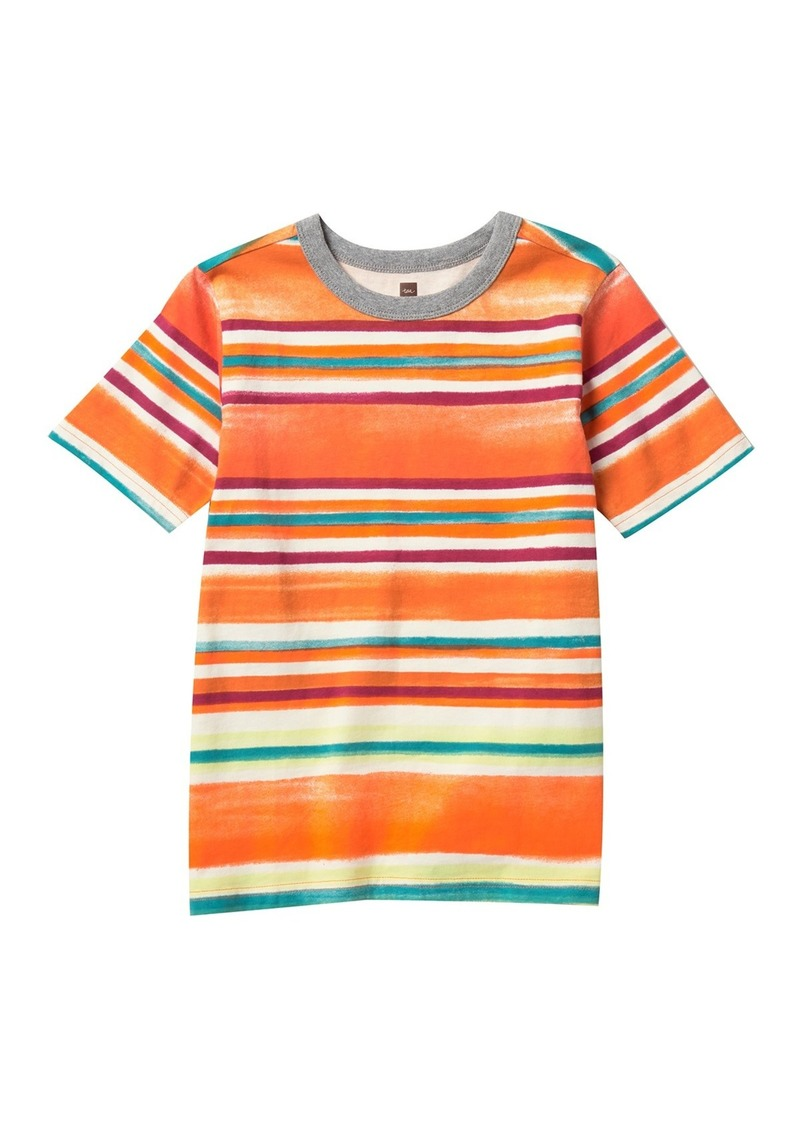 Tea Collection Painterly Stripe Tee (Toddler, Little Boys, & Big Boys)