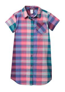Tea Collection Plaid Shirt Dress (Big Girls)