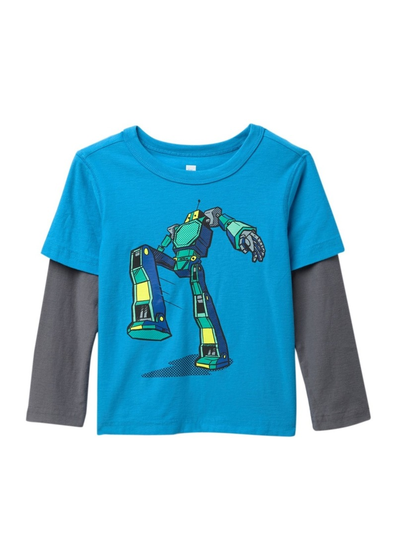 Tea Collection Robot Twofer Tee (Toddler & Little Boys)
