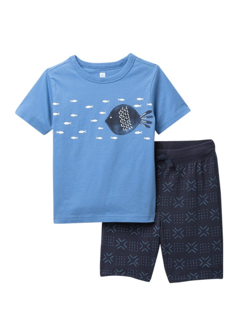 Tea Collection School of Fish T-Shirt & Shorts Set (Baby & Toddler Boys)