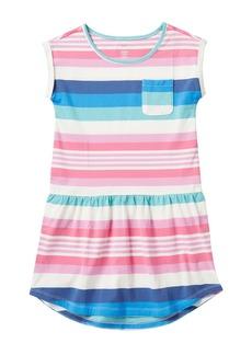 Tea Collection Sunset Stripe Pocket Dress (Big Girls)