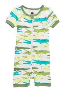 Tea Collection Alligator Fitted One-Piece Pajamas (Baby Boys)