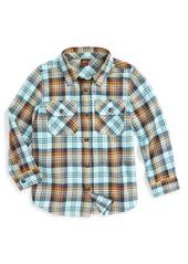 Tea Collection Biwa Plaid Flannel Shirt (Toddler Boys, Little Boys & Big Boys)