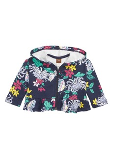 Tea Collection Blooms Peplum Hoodie (Baby Girls)