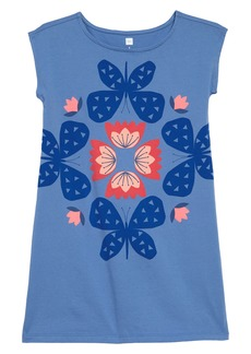 Tea Collection Butterfly & Flowers Graphic Dress (Toddler Girls, Little Girls & Big Girls)