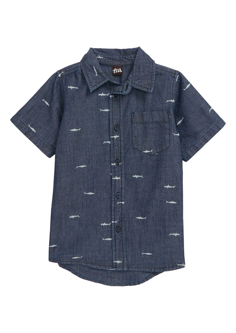 Tea Collection Chambray Shirt (Toddler & Little Boy)