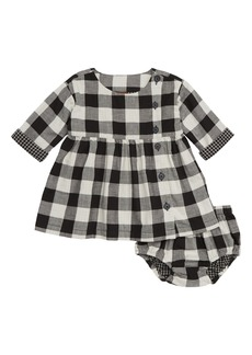 Tea Collection Check Plaid Dress (Baby Girls)