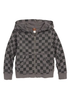 Tea Collection Checkerboard Zip Hoodie (Baby Boys)