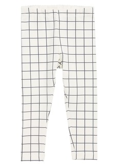 Tea Collection City Grid Leggings (Baby Girls)