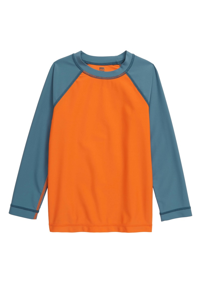 Tea Collection Colorblock Long Sleeve Rashguard (Toddler & Little Boy)