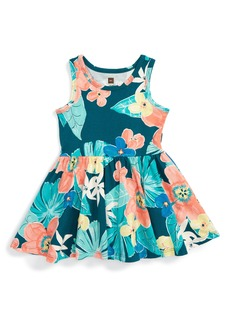 Tea Collection Coral Fern Tank Dress (Baby)