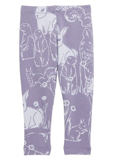 Tea Collection Critters Cozy Leggings (Baby)