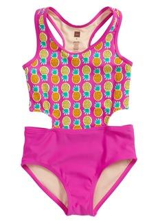 Tea Collection Cutout One-Piece Swimsuit (Toddler Girls, Little Girls & Big Girls)