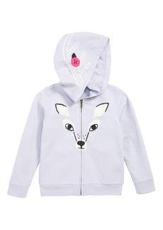 Tea Collection Deer Zip Hoodie (Toddler Girls, Little Girls & Big Girls)
