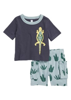 Tea Collection Desert Lizard T-Shirt & Cargo Shorts Set (Baby Boys)