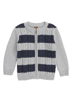Tea Collection Donegal Stripe Cardigan (Baby Boys)