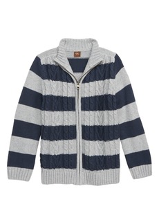 Tea Collection Donegal Stripe Sweater Cardigan (Toddler Boys, Little Boys & Big Boys)