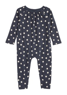 Tea Collection Dot Cotton Romper (Baby Girls)
