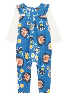 Tea Collection Double Decker Flutter Romper (Baby Girls)