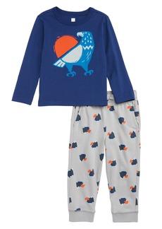 Tea Collection Eagle Graphic T-Shirt & Sweatpants Set (Baby)