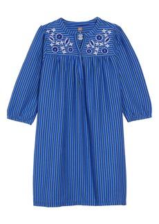 Tea Collection Embroidered Henley Dress (Toddler Girls, Little Girls & Big Girls)