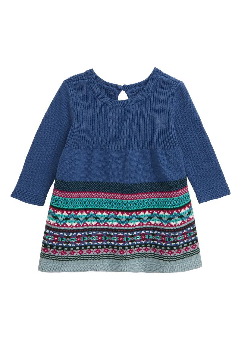 Tea Collection Fair Isle Sweater Dress (Baby)