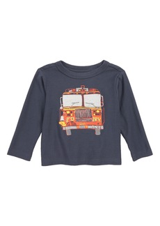 Tea Collection Fire Truck T-Shirt (Baby Boys)