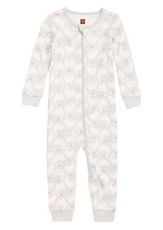 Tea Collection Fitted One-Piece Pajamas (Baby Girls)