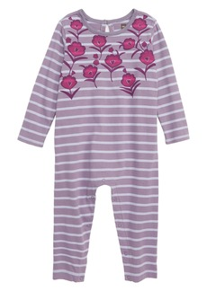 Tea Collection Floral Garden Romper (Baby Girls)