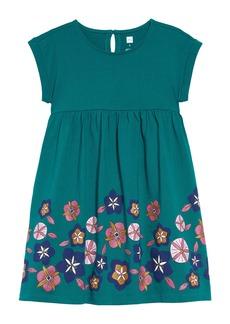 Tea Collection Floral Print Empire Dress (Toddler Girls, Little Girls & Big Girls)