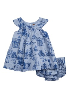 Tea Collection Forest Print Dress (Baby)
