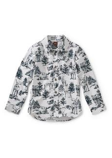 Tea Collection Forest Print Woven Shirt (Toddler Boys & Little Boys)