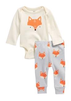 Tea Collection Fox Bodysuit & Pants Set (Baby Boys)
