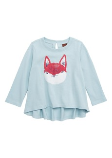Tea Collection Friendly Fox Swing Top (Baby Girls)