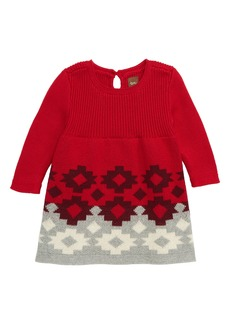 Tea Collection Ganado Geo Sweater Dress (Baby)