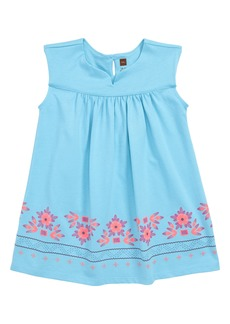 Tea Collection Graphic Empire Dress (Baby Girls)