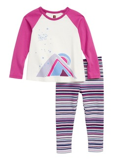 Tea Collection Great Cosmos Tee & Leggings Set (Baby)