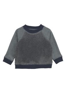 Tea Collection High Pile Fleece Sweatshirt (Baby)