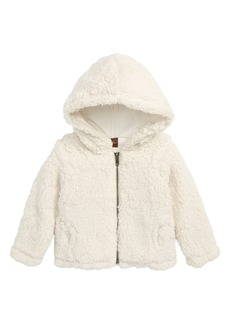 Tea Collection High Pile Fleece Zip Hoodie (Baby)