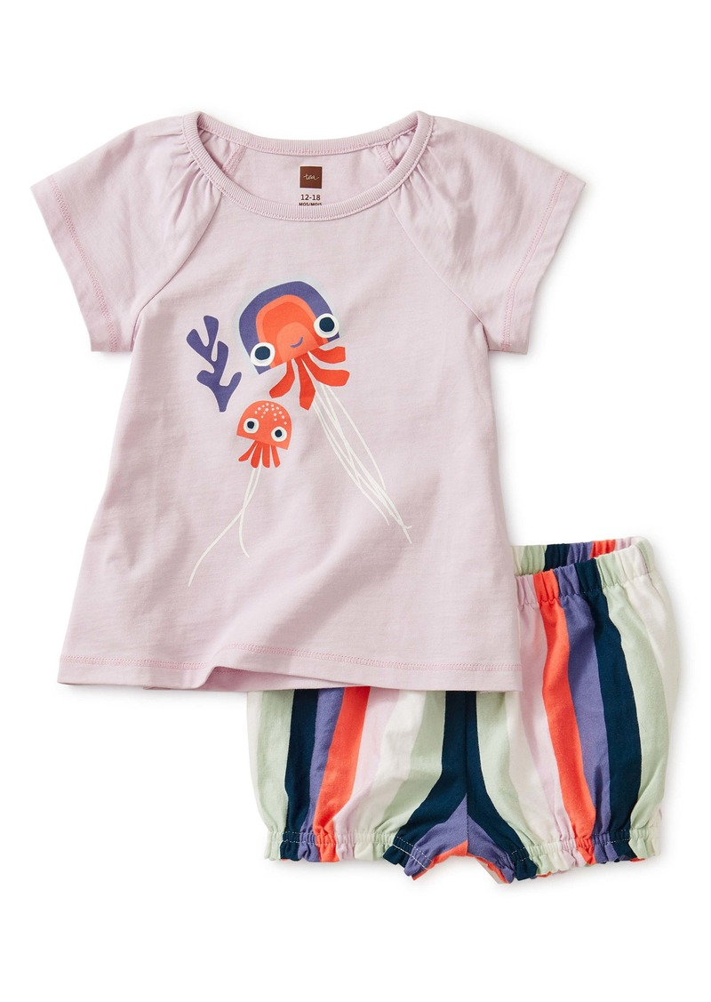 Tea Collection Jellyfish Top & Shorts Set (Baby)