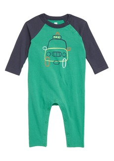 Tea Collection Joy Ride Raglan Romper (Baby Boys)