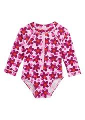Tea Collection Lanai One-Piece Rashguard Swimsuit (Baby)