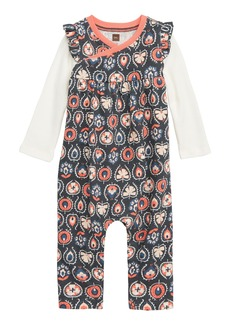 Tea Collection Layered Wrap Romper (Baby Girls)