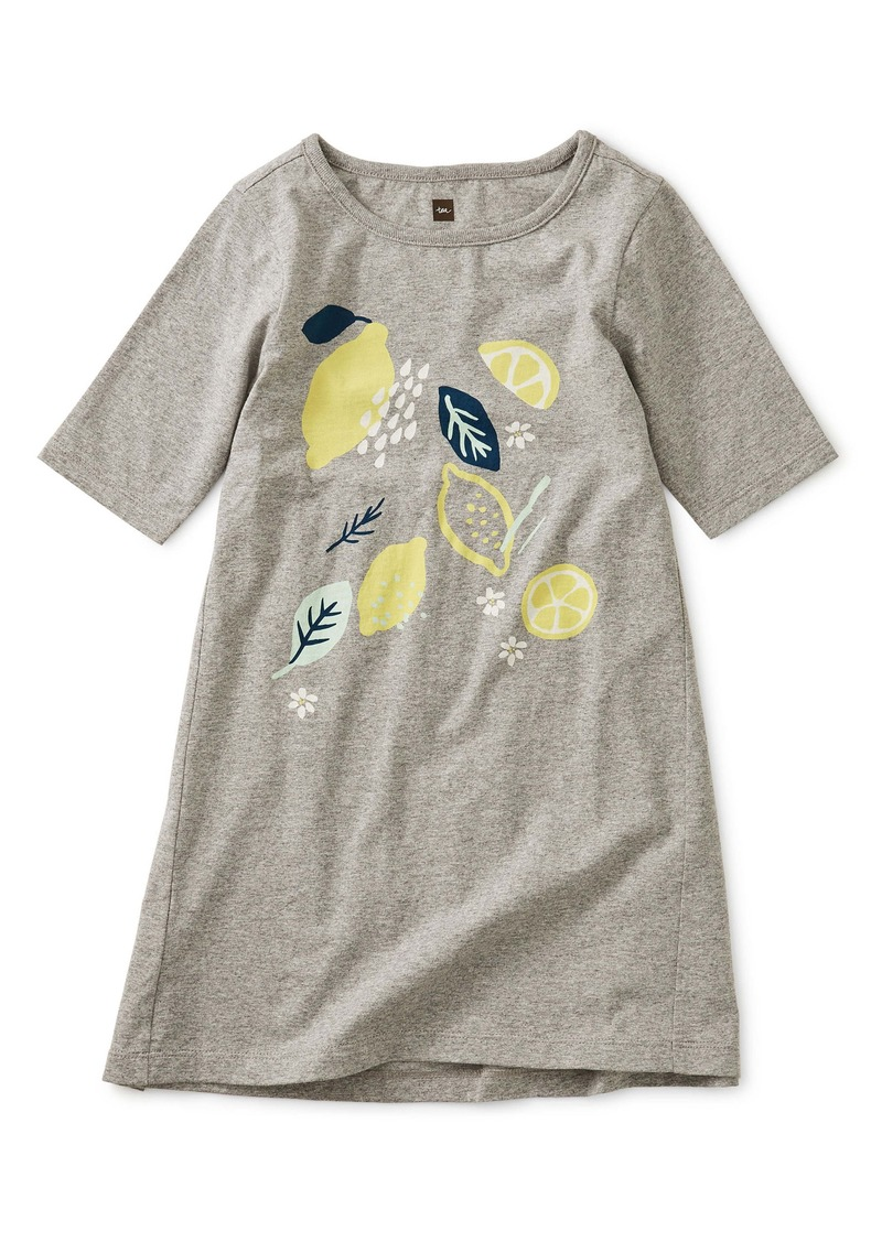Tea Collection Lemon Graphic Dress (Toddler Girls, Little Girls & Big Girls)